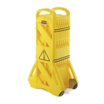 Rubbermaid® Mobile Collapsible Barrier, Yellow, 13 Ft - FG9S1100YEL