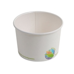 Eco-Packaging® Compostable Paper Soup Cup, White, 8 oz (1000/CS) -EP-BHSC8