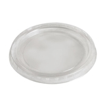Eco-Packaging®  Compostable Portion Cup Lids for 2/4 oz Container, Clear (2000/CS) - EP-SCL