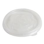 Eco-Packaging®  Recyclable Vented Lid for 6/10 oz Soup Cup, Clear, 90mm (1000/CS) - EP-SCL90