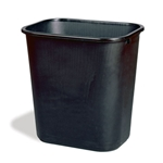 Rubbermaid® Waste Container, Black, 39L - FG295700BLA