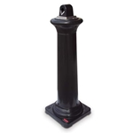 Rubbermaid® Tuscan Groundskeeper Smoking Management Receptacle, Black - FG9W3000BLA