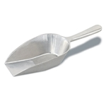 "Browne® Aluminum Flat-Bottom Scoop, 12.3"", 14 oz - 574254"
