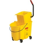 Rubbermaid® WaveBrake™ Mop Bucket and Wringer, Yellow, 35 Qt - FG758088YEL