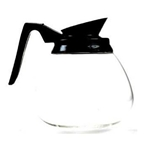 Wells Bloomfield® Glass Coffee Decanter w/Black Handle, No Imprint - 8906