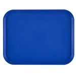 "Cambro® Rectangular Fast Food Tray, Navy Blue, 10"" x 14"" (24/CS) - 1014FF186"