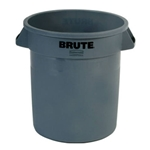Rubbermaid® BRUTE Container, Gray, 10 Gal - FG261000GRAY