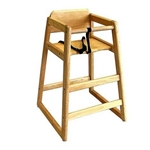 Browne® Wooden High Chair, Natural - 80973