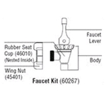 Cambro® Ultra Container Faucet Kit - 60267