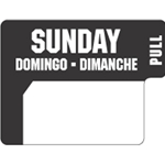 Ecolab® DuraLabel Day Sticker, Sunday - 10136-07-31