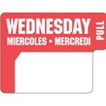Ecolab® DuraLabel Day Sticker, Wednesday - 10136-03-31