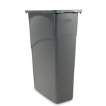 Rubbermaid® Slim Jim Container 23 Gal, Grey - FG354000GRAY