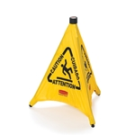 "Rubbermaid® Pop-Up Safety Cone Multi-Lingual 20"", Yellow - FG9S0000YEL"