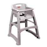 Rubbermaid® Sturdy Chair Youth Seat, Platinum - FG781408PLAT