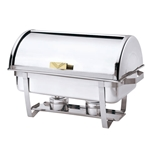Browne® Stainless Steel Economy Roll Top Chafer, Full Size, 9 Qt - 575135
