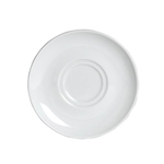 "Steelite® Varick Cafe Porcelain Double Well Saucer, White, 6.25"" - 6900E530"