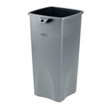 Rubbermaid® Untouchable Square Container 23 Gal, Grey - FG356988GRAY