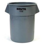 Rubbermaid® BRUTE™ Container, Gray, 44 Gal - FG264360GRAY