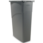 Rubbermaid® Slim Jim Waste Container, Beige - FG354000BEIG