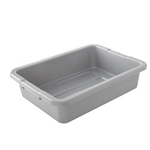 "Rubbermaid® Bus Bin, Grey, 20"" x 15"" x 5""- FG334992GRAY"