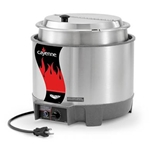 Vollrath® Cayenne Round Heat 'N Serve Rethermalizer w/ Insert and Hinged Lid, 7Qt - 72018
