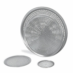 "Browne® Aluminum Perforated Pizza Tray, 17"" - 575357"