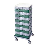 Cambro® Camrack® Glass Rack Full Size, 25 Compartment, Gray - 25s318151