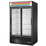 True® Glass Door Merchandiser Cooler 2 Door 41 CU FT - GDM-41-HC-LD(BLK)