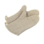 "Browne® Cotton Oven Mitts, 17"" - POM17"