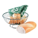 "Danesco® Wire Bread/Fruit Basket, Silver, 9"" x 4"" - H799CR"