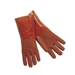 "Crawford Broom & Brush Co® Double Dipped PVC Gloves, Red, 18"" - MG1418T"