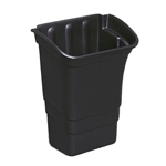 Rubbermaid® Refuse Bin for Cart, Black - FG335388BLA