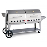 "Crown Verity® Barbecue w/Roll Covers, Propane, 72"" - MCB-72-RD-36/72"