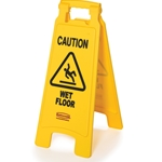 Rubbermaid® Wet Floor Sign English, Yellow - FG611277YEL