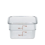 Cambro® CamSquare Camwear Container, Clear, 2 Qt - 2SFSCW135