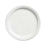 "Browne® Palm Ceramic Side Plate, White, 6.5"" - 563962"