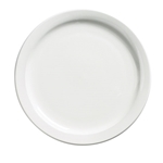 "Browne® Palm Ceramic Dinner Plate, White, 9"" - 563964"