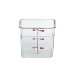Cambro® CamSquare Camwear Container, Clear, 6 Qt - 6SFSCW135