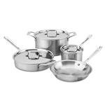 All-Clad® Tri-Ply 7 Piece Stainless Steel Cookware Set - 401464