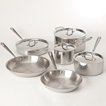 All-Clad® Tri-Ply 10 Piece Stainless Steel Cookware Set - 401488R
