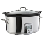 All-Clad® Stainless Steel Slow Cooker w/Ceramic Insert, 6.5 Qt - 99009
