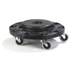 Carlisle® Bronco Standard Round Container Dolly, Black - 36911 03