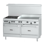 "Garland® G Series 60"" Natural Gas Range, 4 Burners, 36"" Griddle - G60-4G36RR(NG)"