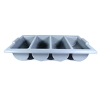 Magnum® 4 Compartment Cutlery Box, Grey - MAG3640