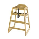 Johnson-Rose® High Chair, Natural - WD-HC