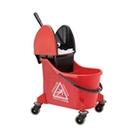 Ecolab® Dual Cavity Mop Bucket, Red - 89990205