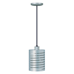 Hatco® Decorative Heat Lamp w/ Cylindrical Shade, Silver - DL-1100