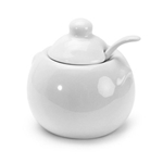 BIA Porcelain® Covered Sugar Bowl, White, 8 oz - 904028PC