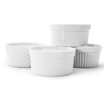 BIA Porcelain® Ramekins, White, 5 oz (Set of 4) - 904925GWH