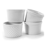 BIA Porcelain® Ramekins, White, 12 oz (Set of 4) - 904926GWH